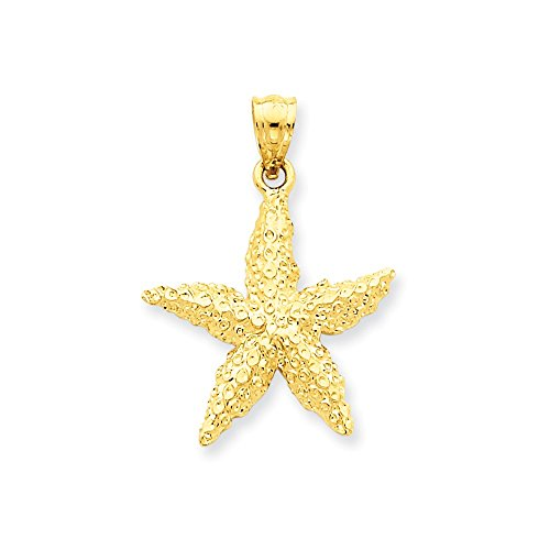 14k Gold Starfish Pendant (1.14 in x 0.83 (14k Gold Starfish Necklace)