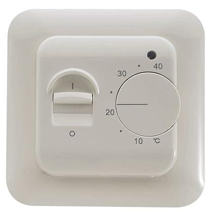 SM-PC/® Thermostat Fu/ßbodenheizung Elektroheizung Unterputz wei/ß #830