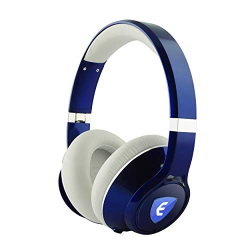 Nakamichi Edge Dual-Driver Wireless Headphones with Active Noise Cancellation (Blue)