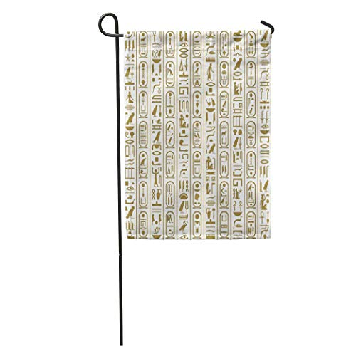 YhouqukehTshirt Garden Flag Africa Ancient Egyptian Writing Ankh Antiquities Cartouche Culture Egypt Egyptology Home Yard House Decor Barnner Outdoor Stand 12x18 Inches Flag