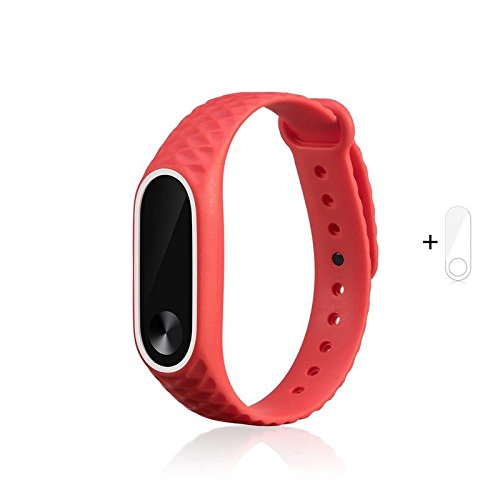 J Replacement Polygon Pattern Design TPU Strap for Xiaomi MI Band 2 & Mi Band HRX (Plus Screen Guard) Tracker Not Included…-Best-Popular-Product
