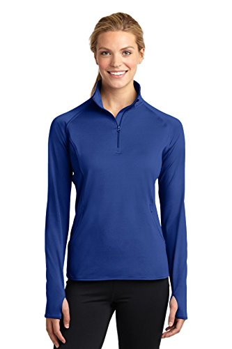 Sport-Tek Women's Sport Wick Stretch 1/2 Zip Pullover L True Royal