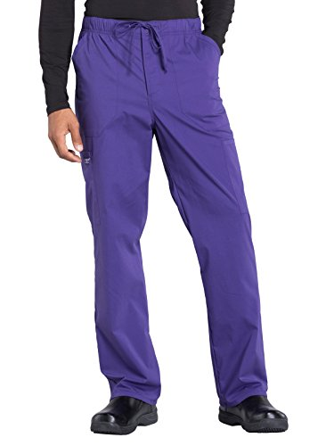 Cherokee WW Professionals WW190 Men's Tapered Leg Drawstring Cargo Pant Grape L