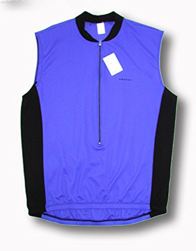 Ascent Sleeveless Two Tone Blue and Black Cycling Jersey Mens Medium