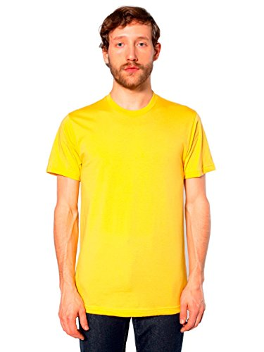 American Apparel  Unisex Fine Jersey Short Sleeve T-Shirt, Sunshine, X-Large