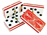Domino Double Six Red Bicycle Card Back - Deluxe Case