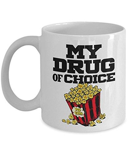 My Drug Of Choice Popcorn Coffee & Tea Gift Mug For A Popcorn Lover (11oz)