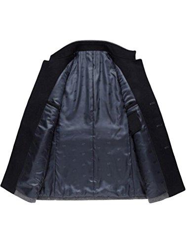 coat Homme Chaud Duffle Hiver Parka D'affaires Laine Mallimoda Manteau Gris 1q4a7U