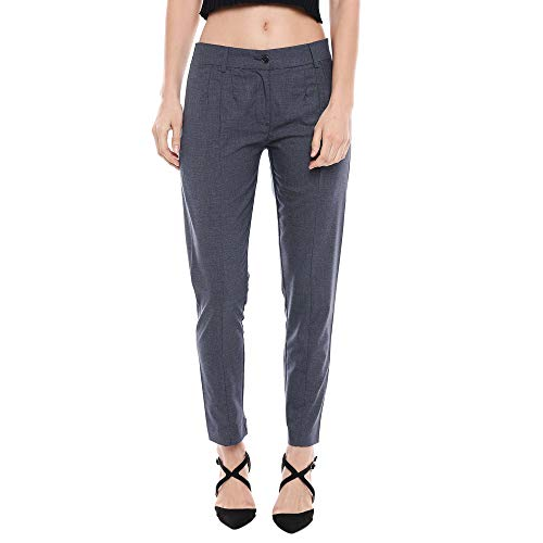 STOP by Shoppers Womens 2 Pocket Check Pants (Navy, Size: 28)