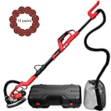 VIVOHOME Foldable 750W Electric Adjustable Variable Speed Drywall Sander with Led Light Automatic Vacuum System and Tool Case