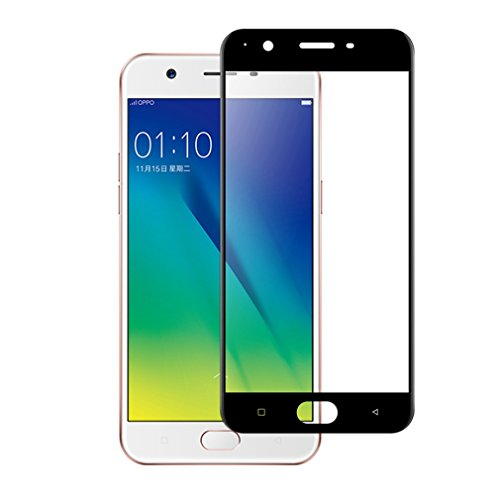 41S5IV4o7LL [3 Pack] OPPO F1S / A59 Screen Protector,MuTouNiao 9H Cell Phone Tempered Glass Screen Protector Scratch Proof Anti-Fingerprint Film For OPPO F1S / A59 - Black.