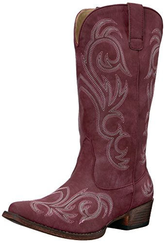 (ROPER Women's Riley Western Boot, Red, 9 D US)
