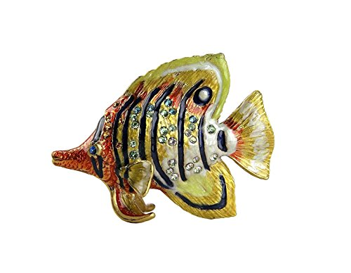 Jay Strongwater Tropical Mini Figurine Butterfly Fish Melvin Swarovski Crystals Brand New, Box