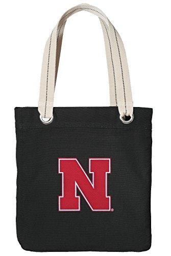 University of Nebraska Tote Bag RICH COTTON CANVAS Nebraska Huskers Bags (Nebraska Boxer)