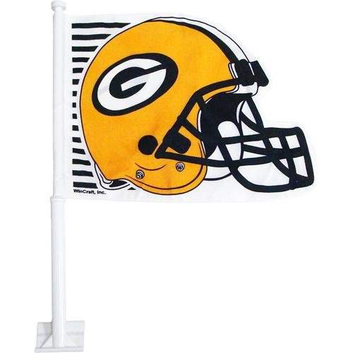 Football Shaped Car Flag - Green Bay Packers Helmet-Shaped Car Flag