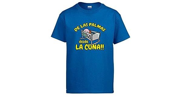 Camiseta de Las Palmas desde la cuna Gran Canaria fútbol - Azul Royal, S: Amazon.es: Ropa y accesorios