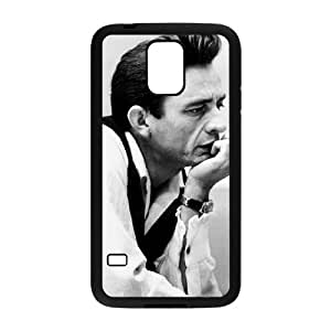SamSung Galaxy S5 I9600 2D DIY Hard Back Durable Phone Case with Johnny Cash Image
