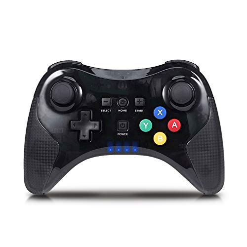 Wii U Pro Controller,Bigaint Wireless Bluetooth Rechargeable Game Controller Dual Analog Gamepad Joystick with USB Cable for Nintendo Wii U (Black) (WII U) ()