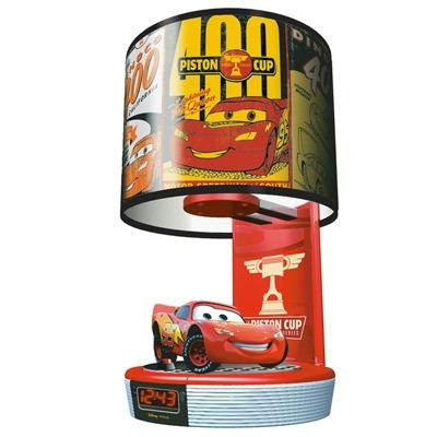 Disney CARS - Talking Lightning McQueen Table Lamp & Alarm Clock Radio (Disney Cars Alarm Clock)