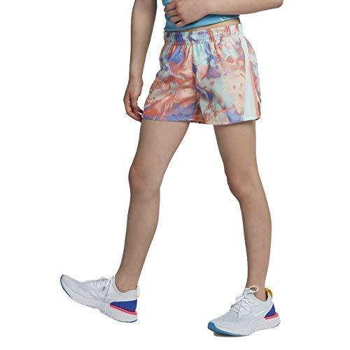 Nike Girl`s Dri-FIT Running Shorts (Crimson Bliss(890520-695)/Igloo, Large) by Nike