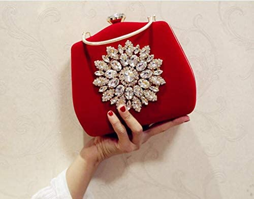 Ladies Evening Party Clutch Purse Diamond solid hand chain shoulder Bag