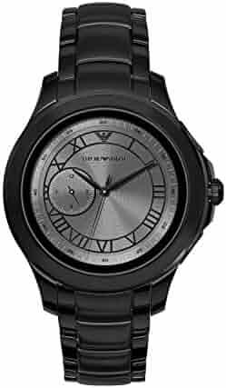 Emporio Armani Men's ART5011 Smartwatch Digital Display Analog Quartz Black Watch