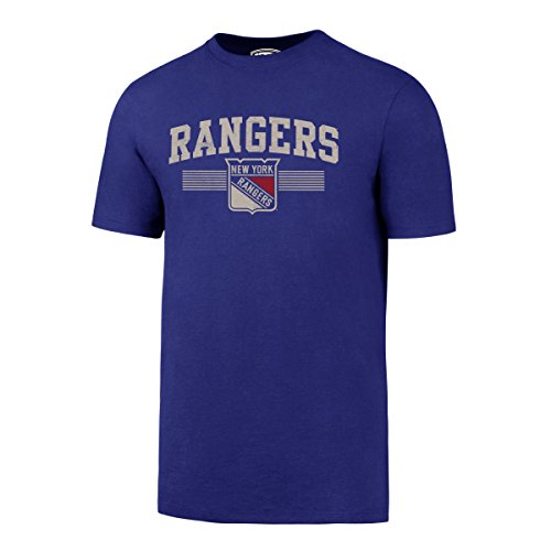 (NHL New York Rangers Men's OTS Rival Distressed Tee, Large,)