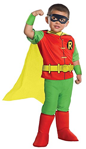 Rubie's Costume DC Comics Toddler Deluxe Robin Costume, X-Small, - Robin Costumes For Baby