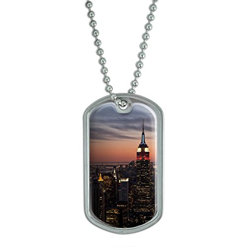 new-york-city-skyline-at-night-empire-state-building-military-dog-tag-keychain