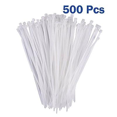 Conwork Self-Locking Nylon Cable Ties, 8-Inch 500 Pcs