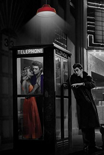 Amazoncom Buyartforless Midnight Matinee Marilyn Monroe James Dean