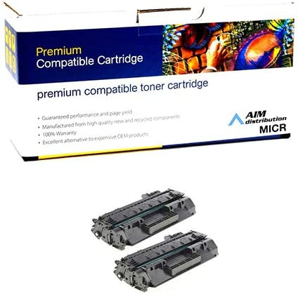 CF280ACD - Generic NO. 80A 2//PK-2700 Page Yield AIM Compatible MICR Replacement for HP Laserjet Pro M401//425 Toner Cartridge
