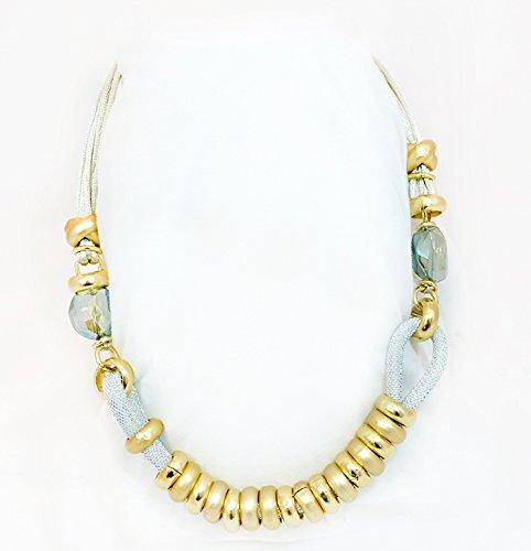 Anello Gold Finish Ring Murano Glass Necklace