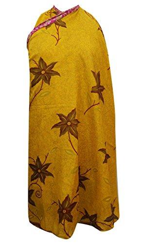 Garden Silk Wrap Reversible Long Hippie Skirt Hippie Silk Skirt