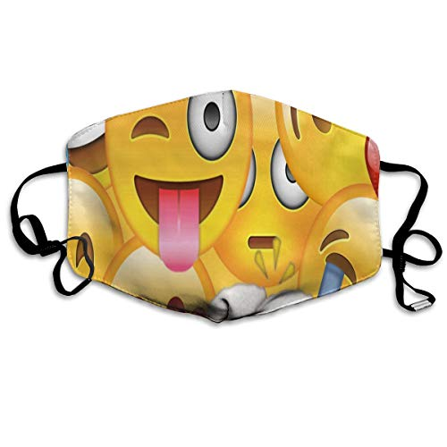 Anti Dust Mask Emoji Face Mouth Cover Winter Healthy Washable For Unisex Halloween ()