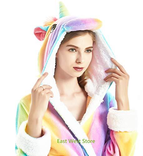 In Accappatoio Robe Cappuccio Lion Cosplay Deer Adulto Rainbow Fox Del Halloween Unicorno Pile Natale Flanella Fumetto Unicorn Con Animale 0AqfzR