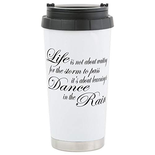 CafePress Dancing In The Rain Stainless Steel Travel Mug, Insulated 16 oz. Coffee Tumbler