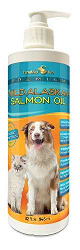Premium Wild Alaskan Salmon Oil for Dogs and Cats All-Natural Omega-3 Food Supplement over 15 Omega's EPA - DHA Fatty Acids Natural Astaxanthin - Vitamin D!
