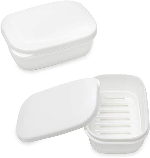 Home Bathroom Shower Travel Portable Soap Box Plate Holder Tray Case Container