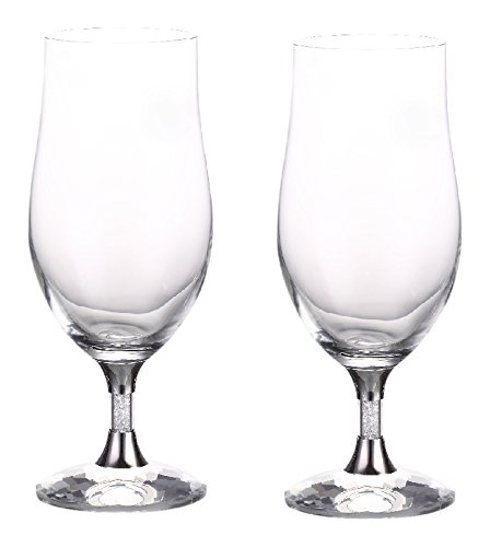 14afa240018 Diamond Affair Water Glasses with Swarovski Crystals