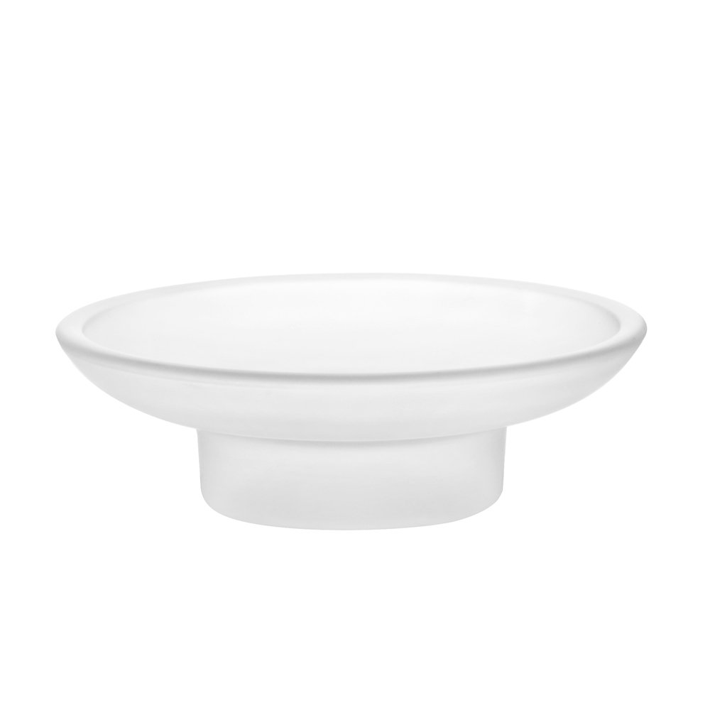 2X Frosted Glass Soap Dish Replacement Spare For Bathroom Accessory (Frosted) Sinjo