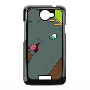 HTC One X Cell Phone Case Black Disney Dumbo Character Catty the Elephant R2S1Q