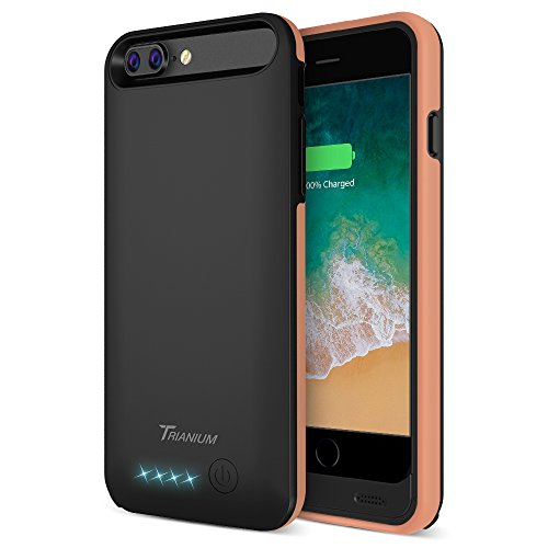 "iPhone 8 Plus/7 Plus Battery Case, Trianium Atomic Pro 4200mAh Extended iPhone 8 Plus Portable Charger For iPhone 7 Plus,8 Plus (5.5"")[Black Signature] Power Charging Case [Apple Certified Part] ()"
