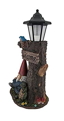 Gnome Nap Station and Welcome Sign Solar LED Lantern