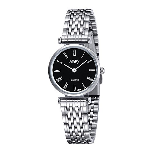 eba2799d9f6 Buy Nary Luxury Blazers Relogio Feminino Fashion Wrist Watch For Women -  Black   Silver Online at Low Prices in India - Amazon.in