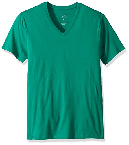 (A|X Armani Exchange Men's Pima Cotton Jersey Short Sleeve Tshirt, Ultramarine Green, L)