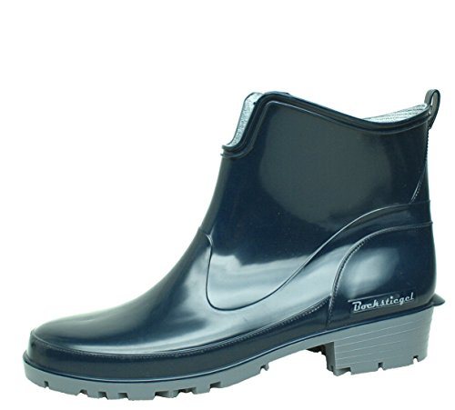BOCKSTIEGEL® ELKE Women - Stylish Half Rubber Boots (Sizes: 36-43), Colour:Dk-Blue/Grey;Size:EU 41 - UK 7/7.5