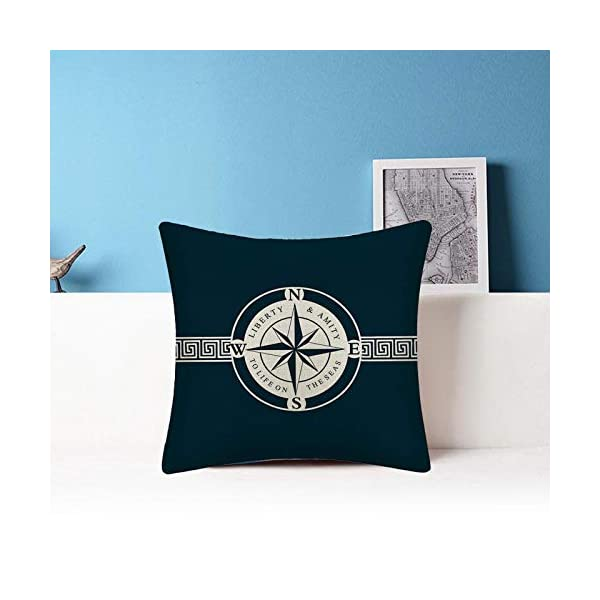 41S5PBeqr9L WMWZ Bunt Ozean-Serie Segelboot Anchor Design Kissen Leinen Baumwolle Überwurf Case Soft Bettwäsche Kissenbezug Für Sofa…