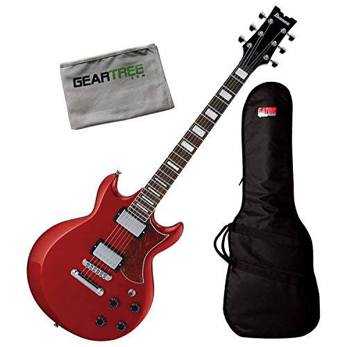 Ibanez AX120 CA Candy Apple AX Standard Electric Guitar Bundle w/Bag and Cloth