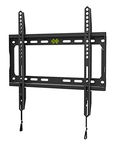 USX Mount TV Wall Mount for Most 26-55 Inch LED, LCD and Flat Screen TVs, TV Mount with VESA Up to 400x400mm and Weight Capacity 99lbs, Low Profile, Fixed and Space Saving TV Bracket